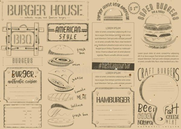 menu placemat template