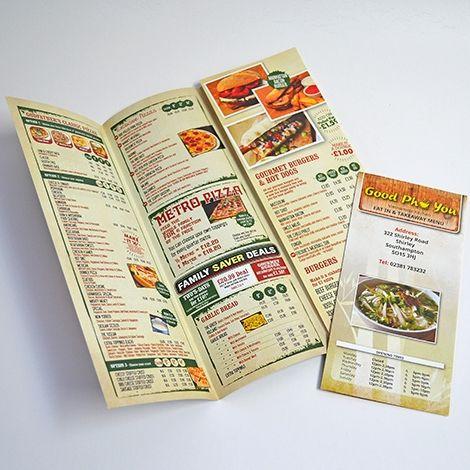 takeaway menu | Online Printing