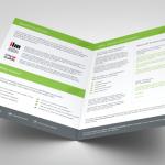 250gsm folded brochure