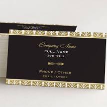metal foil business card