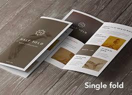 Z-folded A4 flyer