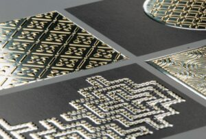gold silver foil business cards