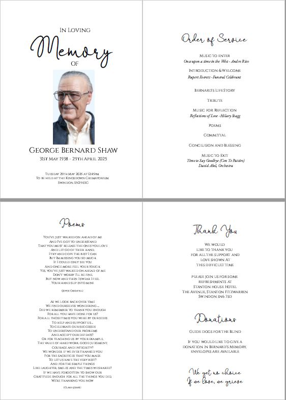 Funeral Order of Service